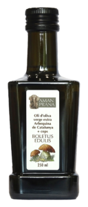 Huile d'olive douce Arbequina aux Bolets