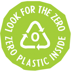 Look for zero logo for products without microplastics