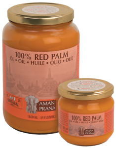 Duurzame rode palmolie van Amanprana in twee maten