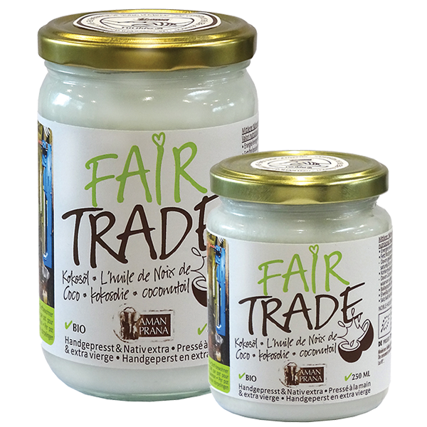 Fair Trade coconut oil from Amanprana in collaboration with Niulife to help the Solomon villagers