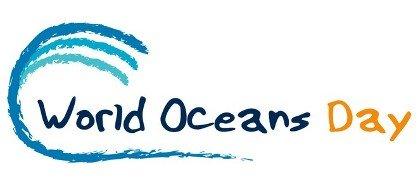 word oceans day logo