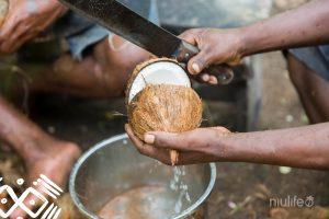 Openen van kokosnoot