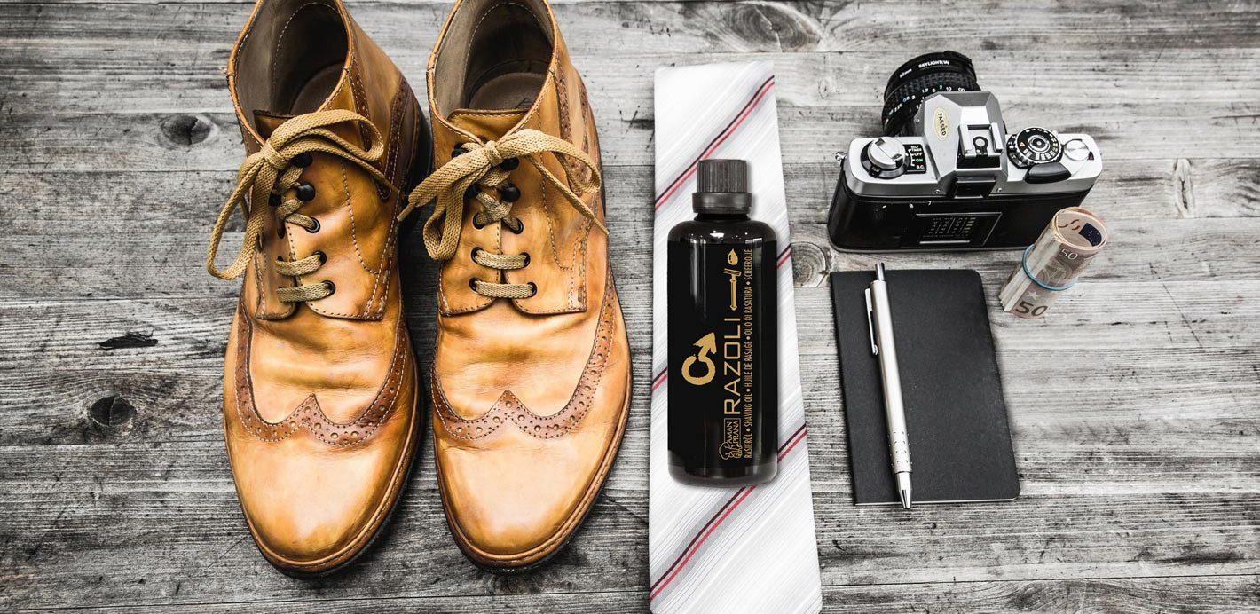 Razoli für Männer von Amanprana ideal als Bartöl. Pflegen Sie Ihren Bart wie beim Barbier mit Razoli als Bartöl