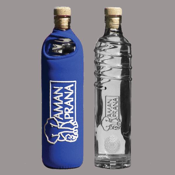Amanpranas Eco Respekt-vannflaske med blått trekk