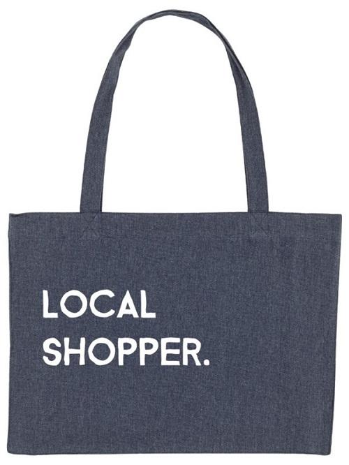 Herbruikbare shopper een milieuvriendelijk alternatief voor wegwerp plastic zakjes.