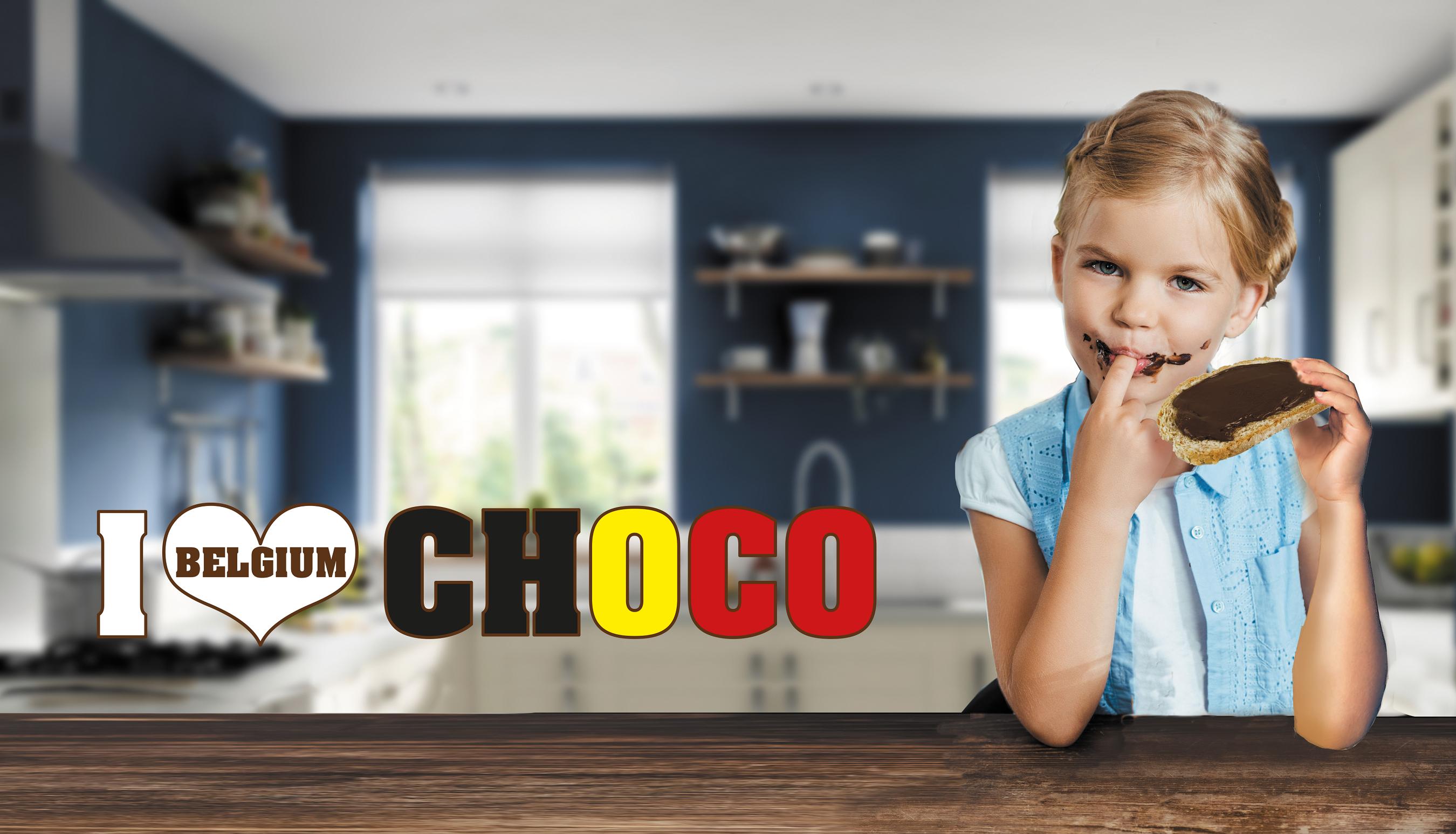 I love Belgium choco de luxe choco-hazelnootpasta van amanprana