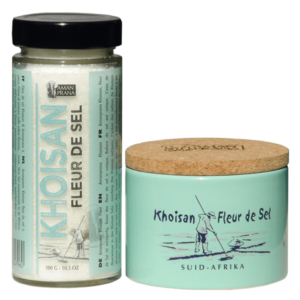 The packaging of Amanprana's Fleur de sel, one of the world's healthiest salts