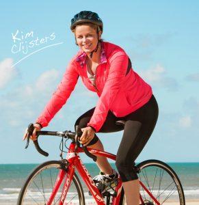 Kim Clijsters op de fiets