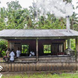 De kokosnootmolen op Solomon eilanden