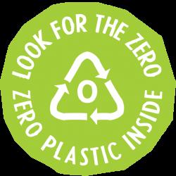 Look for zero logo voor producten zonder microplastics
