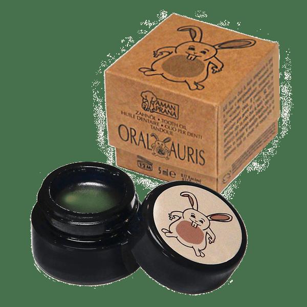 Amanpranas Oral og Auris olje for tann- og ørehygiene