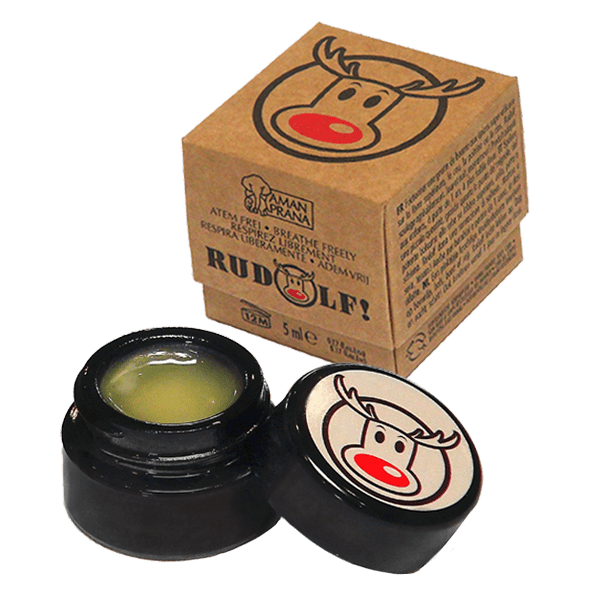 Rudolf! from Amanprana is 100% natural and organic balm that offers relief from colds