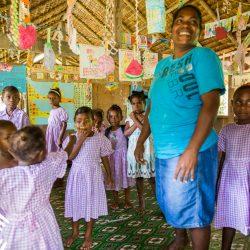 klasje op de Solomon eilanden waar fair trade kokosolie van Amanprana wordt gemaakt