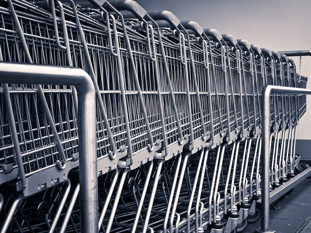 Supermarkt karretjes