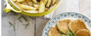 Recept met Kokosöl: Kartoffelblinis mit Dip