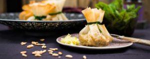Recept met Fleur de Sel: Knapperige seitanflapjes met prei en zwarte knoflook