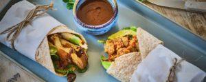 Recept met <br />Zwarte Knoflook: Vegetarische wraps met oesterzwammen en zwarte knoflook pasta