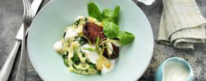 Recept met Verde Salud olive oil: Dutch Stamppot with Corn Salad and Black Garlic