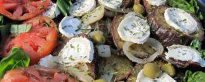 Recept met coconut oil: Aubergines with goat's cheese