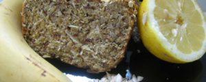 Recept met la farine de coco: Cake banane-citron