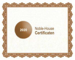Noble-House bio certificaat 2020