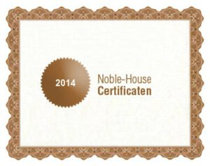 Noble-House bio certificaat 2014