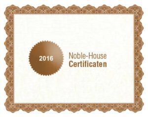 Noble-House bio certificaat 2016