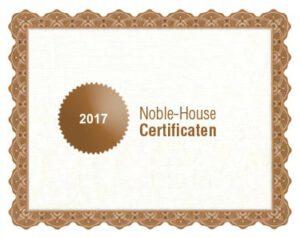 Noble-House bio certificaat 2017