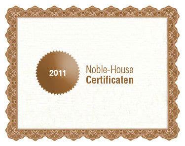 Noble-House bio certificaat 2011