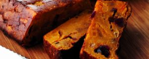 Bread pudding with pumpkin
