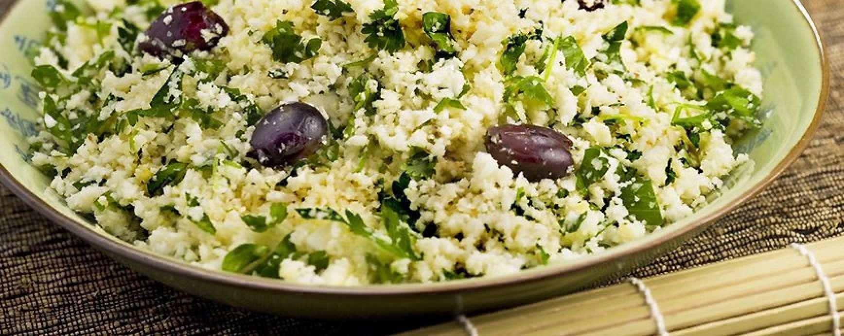 Cauliflower couscous with Okinawa Omega