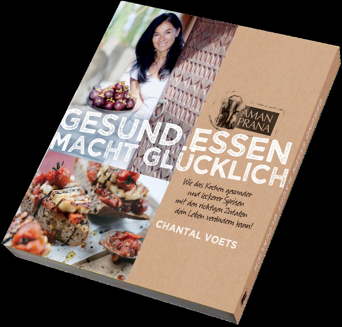 Buch Gesund essen macht glücklich von Amanpranas Chantal Voets