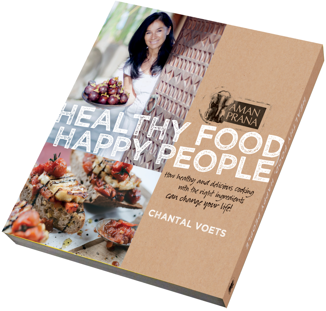 "Discover the book ""Eat well, it's good for you"" by Amanprana founder Chantal Voets"