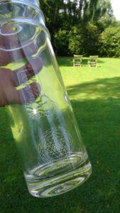 La bouteille Eco Respekt côté vortex