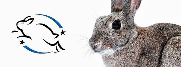 Het leaping bunny label dat wordt gedragen door de verzorgingsproducten van Amanprana