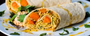 Recept met Spices mixes: Moroccan wraps with couscous and ras el hanout spices