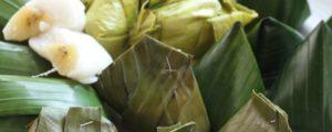 Recept met Le sucre de fleur de coco: Nagasari (cake de riz à la banane à la vapeur)