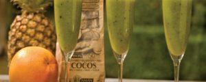 Recept met la farine de coco: Smoothie d'ananas et spiruline