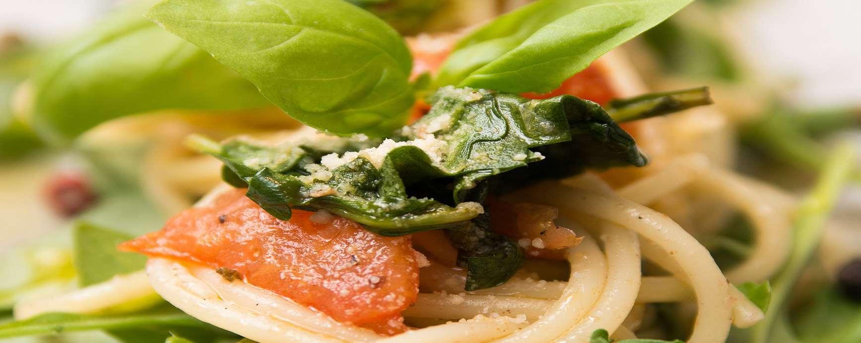 Dinkelspaghetti-Rezept mit Rucola