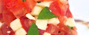 Recept met kruidenmixen: Tartaar van tomaat, mozzarella en balsamico