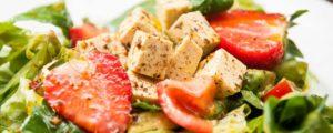 Veganistische kaas van tofu
