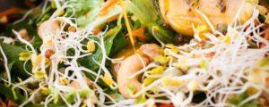 Vinaigrette dressing met kruiden en agavesiroop